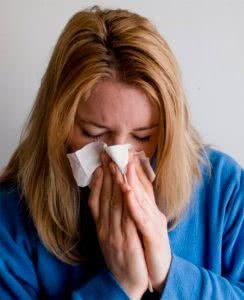 Женщина с плохим иммунитетом